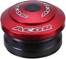 """ACOR Auricolare Completamente Integrato 1.1/8"""" MTB Bicicletta Bici Lega Rosso 41.8mm CUSCINETTI"""