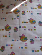 """Easter Fabric One Direction Pattern Flower Baskets Light and Fresh 36"""" x 4 yds"""