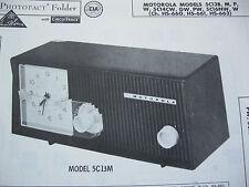 MOTOROLA 5C13B, M, P, W, 5C14CW, 5C16NW RADIO PHOTOFACT
