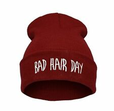 Winter Wool BEANIE HAT Oversized HATS LA Bad Hair Day Swag Cash Easy Meow Ski LA
