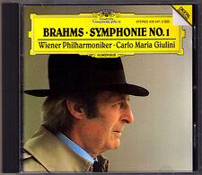 Carlo Maria GIULINI: BRAHMS Symphony No.1 Wiener Philharmoniker DG CD Sinfonie
