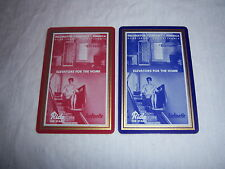 (2) single INCLINATOR playing cards-VINTAGE 1960s-home elevators-RIDE THE STAIRS