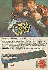 X4340 Lancia Aerei - MATTEL - Pubblicità 1976 - Advertising