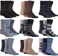 Mens Gentle Grip Socks Non Elastic Soft Top Diabetic Cotton Wool Seam Free 6-11