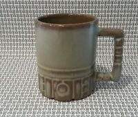 Frankoma C4 Plainsman Brown Grey  Coffee Mug Cup Aztec Mayan EUC