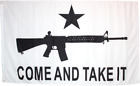 COME & TAKE IT 2ND Ammendment 3X5 FLAG M4 GONZALES AMERICAN USA Trump NRA Flag