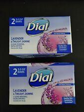 Dial Lavender & Twilight Jasmine Anti Bacterial 6.4 oz pack 4 Bars Total