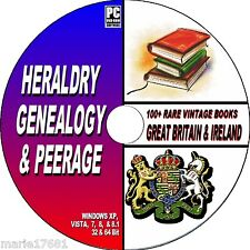 MASSIVE HERALDRY PEERAGE & GENEALOGY RARE BOOK COLLECTION ON PC DATA DVD-ROM NEW