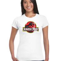 Jurassic Park Womens Retro Movie T-Shirt Classic Dinosaur Movie Distressed