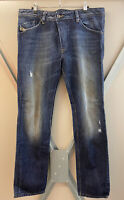 100% GENUINE DIESEL DARRON Designer REGULAR SLIM TAPERED JEANS Size W 34 L 32