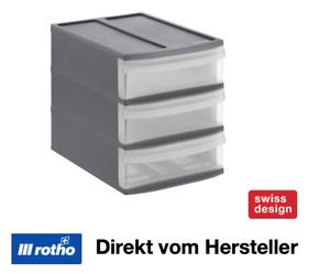 Rotho Systemix Schubladenbox Tower S 3 Fächer Hobby Aufbewahrung Sotieren Ordnen