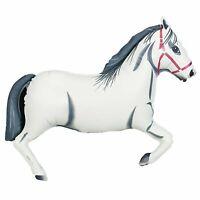 "XL 43"" White Horse Super Shape Mylar Foil Balloon Party Decoration"