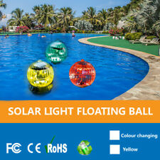 Solar Power LED Floating Lights Garden Pond Pool Lamp Color Changing Waterproof~