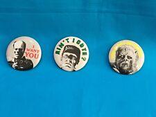 Set Of 3 -Monster Pinbacks - Universal Studios - Phantom, Wolfman , Frankenstein
