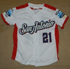 San Antonio Missions Austin Hedges SGA Patriotic Baseball Jersey Sz Youth Small