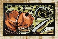 "RAINBOW TROUT Sticker Decal fly fishing 4 3/4"" x 3"" Morgan Brown Design"