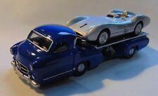 Mercedes * Renntransporter + Rennwagen W 196 R Stromlinie * 1:64 Norev 311000 _