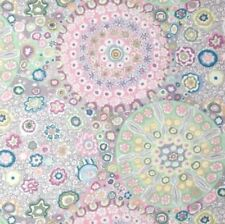 Free Spirit Kaffe Fassett Millefiore PWGP092.Grey Contemporary Cotton Fabric BTY