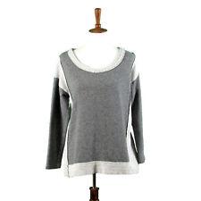 Soft Surroundings Size XS Sweatshirt Top Gray Lace Inset Back