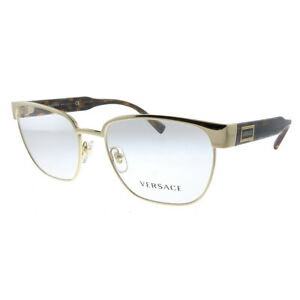 New Versace VE 1264 1460_5 Gold Metal Oval Eyeglasses 54mm