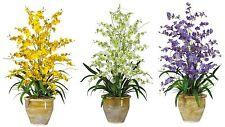 Home Office Decor Dancing Lady Orchid Artificial Silk Flower Center Arrangement