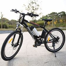 26'' Electric Mountain Bike Bicycle 21 Speed W/ 36V 250W Lithium Battery E-Bike