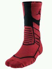 Nike Air Jordan Jumpman Flight Mens Basketball Bred Red Socks 642210-687 Sz S