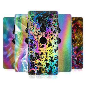 HEAD CASE DESIGNS OIL SLICK PRINTS HARD BACK CASE & WALLPAPER FOR SONY PHONES 1