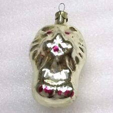 Vintage Russian USSR Silver Glass Christmas Ornament Xmas Tree Decoration Lion