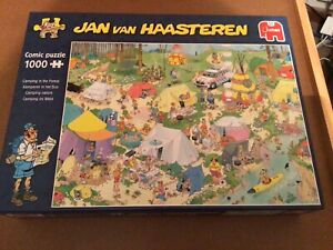 "Jan Van Haasteren 1000 Piece Puzzle.. "" Camping In The Forest"""