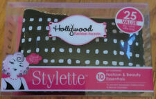 Hollywood Fashion Secrets~ Stylette (10) Beauty Essentials Kit w/ Black Bag~Nwt