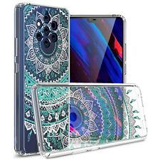 Clear Mandala Design Hard Slim Fit Back Cover Phone Case for Nokia 9 PureView