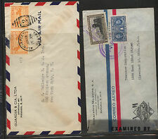 Panama  2  covers, one  censor  both to US        MS0222