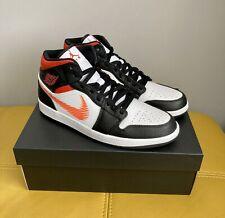 🔥BNWB Authentic Nike Air Jordan 1 Mid Zig Zag White Orange Black UK Size 10