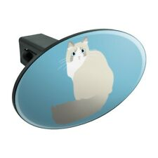 Ragdoll Cat Oval Tow Trailer Hitch Cover Plug Insert