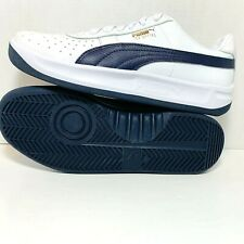 PUMA GV SPECIAL Sneakers Athletic Shoes White/Navy Soft Leather Men's 366613-06