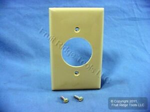 """Leviton Ivory 1.60"""" Receptacle Wallplate 20A 30A Locking Outlet Cover 80720-I"""