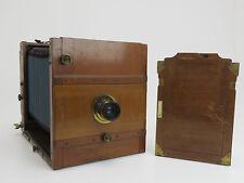 Holz Reisekamera 13x18 mit Voigtländer Weitwinkel Euryscop VII No2 #62336  sm194