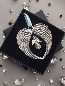 "It's A Boy! Crystal Ornament, New Baby Gift Box & ""Guardian Angel"" Keepsake Card"