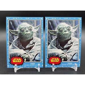 (2) 2021 Topps Star Wars Living Set #167 YODA /5,157