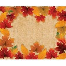 Fall Leaves Paper Placemats 12 Pack Fall Autumn Halloween Thanksgiving