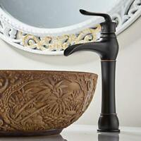 MYHB Oil Rubbed Bronze Bathroom Faucet Waterfall Spout Vessel Sink Mixer Tap