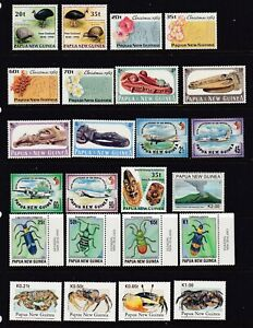 PAPUA NEW GUINEA UNMOUNTED MINT SELECTION SHOWN ON 3 STOCK CARDS