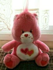 "Nanco 7"" Care Bears Loves a Lot Pink Hearts Seated 2003 Plush"