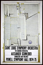 Saul Steinberg St Louis Symphony Orchestra Powell Hall Original1974 Lithograph