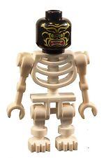 Lego 2 Skeletons Beige+White Head Red Eyes Tan Skeleton White Head