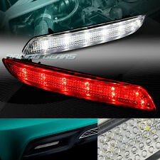 CLEAR LENS LED REAR BUMPER REFLECTOR BRAKE LIGHTS LAMP FIT 11-14 ACURA TSX WAGON