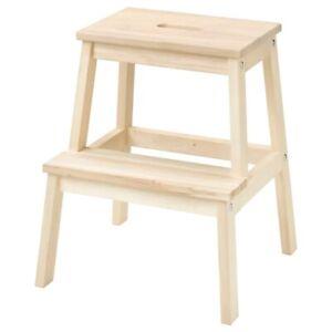 IKEA BEKVAM Wooden Step Stool Natural Kitchen Stool