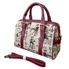 Tapestry-Crossbody-Bag-Top-Handle-Purse-Handbag-Paris-Girl-Design