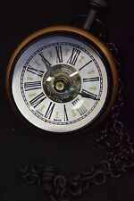 "Antique Style Orb Roamer Clock (Black and Gold) -  3.5"" Diameter, Swiss Made"